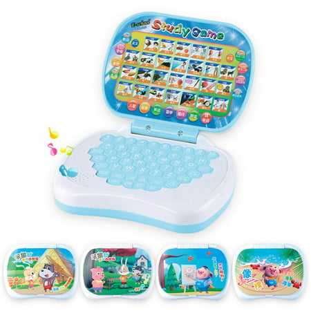 Baby Kids Pre School Educational English Learning Study Machine Laptop Computer Game Educational Toy Random Color
