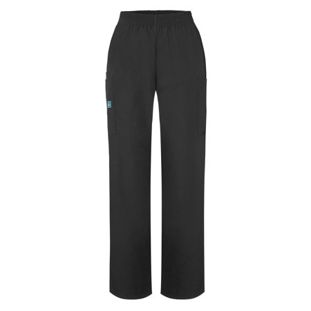 Adar Universal Natural-Rise Comfort 4 Pkt Cargo Tapered Leg Pants Petite - 503P - Black - (Best Women's Cargo Pants)