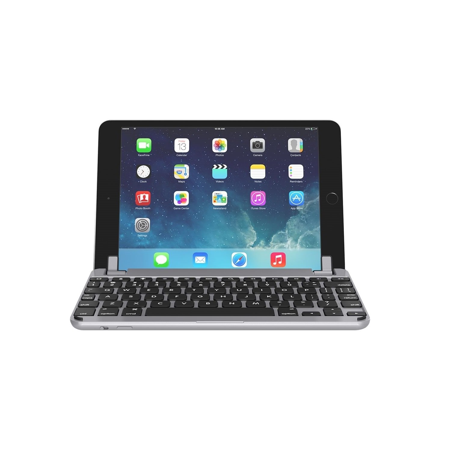 "Brydge 9.7"" Keyboard Case for Air, Air 2,Pro and 2017, Silver"