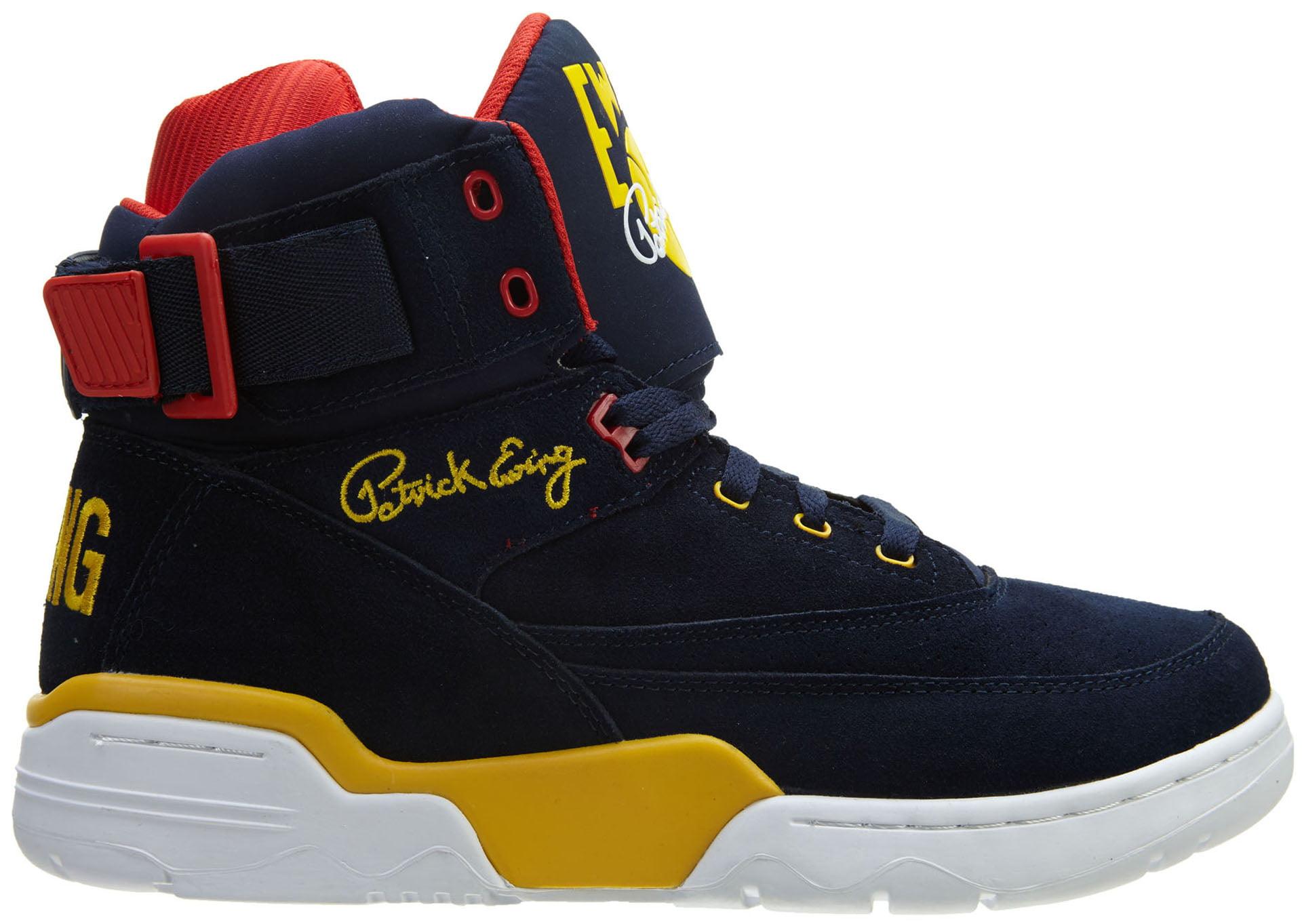 Ewing Navy/Yellow/Red Athletics Ewing 33 Hi Navy/Yellow/Red Ewing Men's Basketball Shoes 1EW90128-433 28341b
