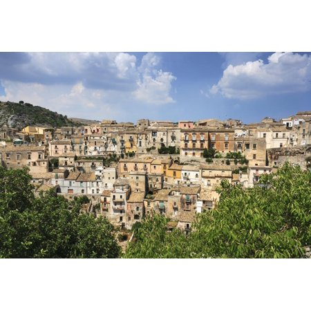 Old World Italian - View of Old Town, Ragusa, Val di Noto, UNESCO World Heritage Site, Sicily, Italy, Europe Print Wall Art By John Miller