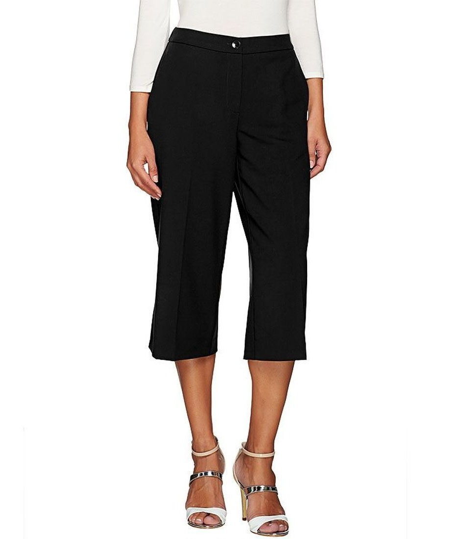 Susan Graver Chelsea Stretch Zip Gaucho Pants A267981 Walmartcom