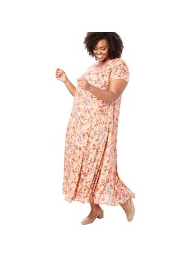 0ebb7fae86079 Product Image Woman Within Plus Size Crinkle Dress