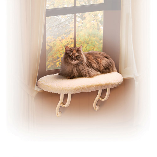 K&H Pet Products Kitty Still Cat Bed, White