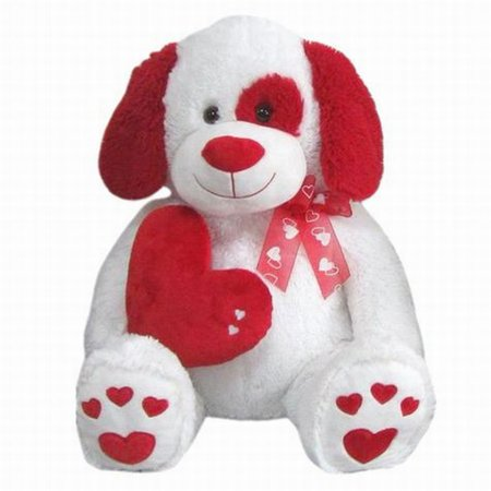 valentines day puppy dog stuffed animal 19 plush giant love pup red white pal