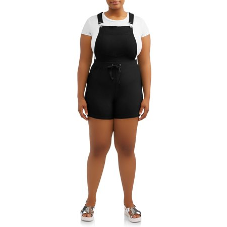 - Juniors' Plus Size Peached Shortalls