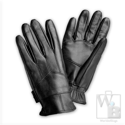 Giovanni Navarre Genuine Leather Insulated Lined Driving Gloves (Black, Size XL)
