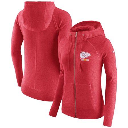 online store 7bc6b 79a89 Kansas City Chiefs Nike Women's Gym Vintage Full-Zip Hoodie - Red