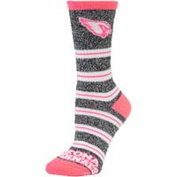 Arizona Cardinals For Bare Feet Women's Melange Stripe Socks