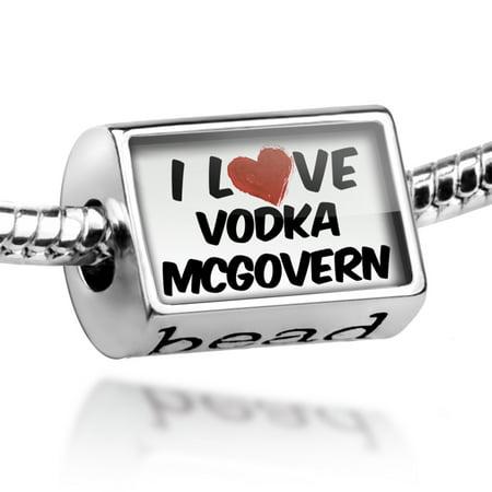 Bead I Love Vodka McGovern Cocktail Charm Fits All European Bracelets](Halloween Vodka Cocktails)