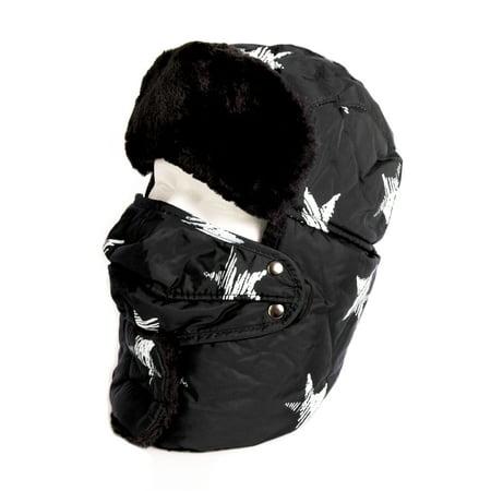 6df68b06201e4 Sakkas - Sakkas Alex Unisex Ushanka Faux Fur Windproof Trapper Aviator Hat  Removable Mask - 18220-black - One Size Regular - Walmart.com