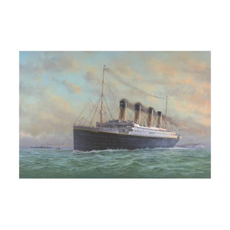 - Titanic Ocean Liner Ship Painting Print Wall Art By Edward Walker