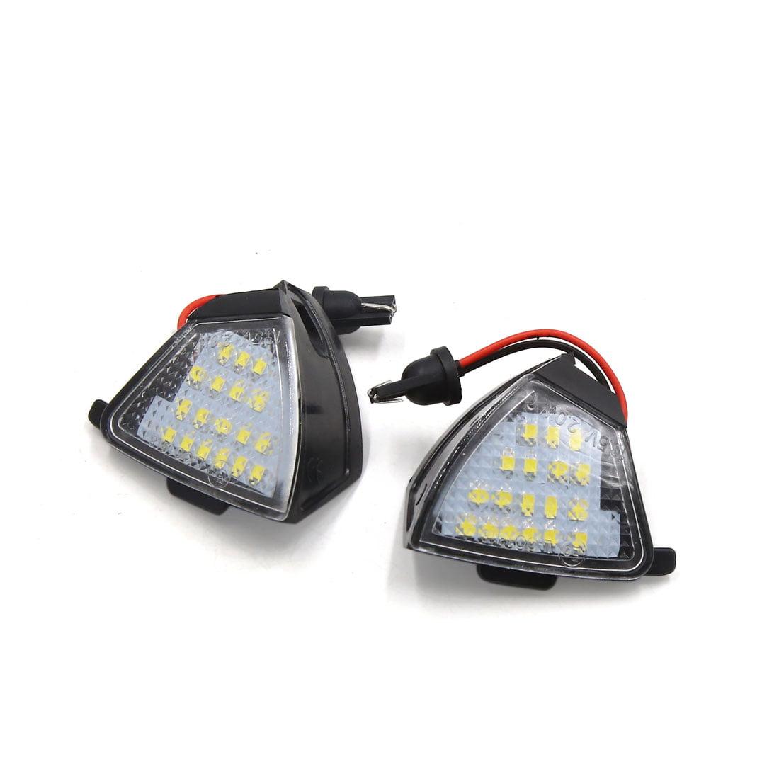 2pcs 13.5V Car White LED Under Side Mirror Welcome Light Puddle Lamp for VW - image 3 of 3