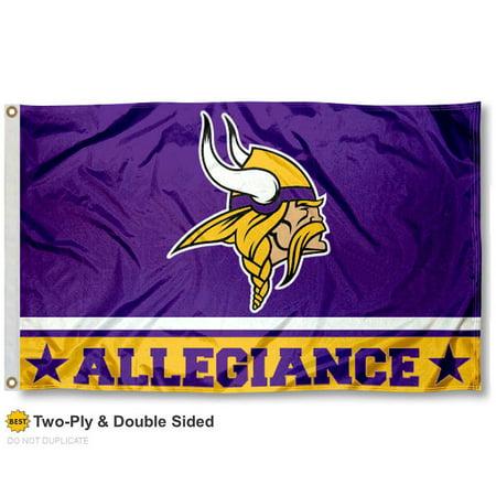 Minnesota Vikings Allegiance Two Sided Flag