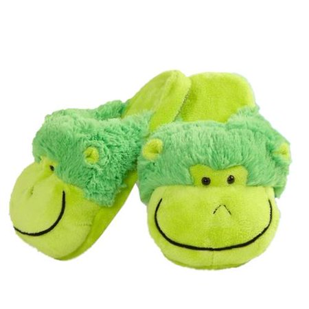 My Pillow Pets Neon Monkey Slippers - Walmart.com