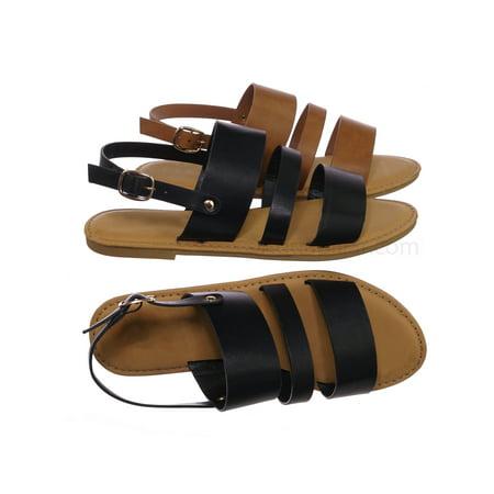 5b747724cf8 Shoreline34 by Bamboo, Slingback Flat Open Toe Sandal - Women Comfort  Summer Shoe