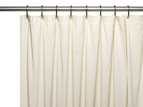 Royal Bath Extra Wide 5 Gauge Vinyl Shower Curtain Liner With Metal  Grommets In Bone,