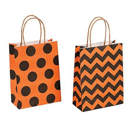 Paper Halloween Craft Party Gift Bags - 12 pieces - Halloween Bag Craft Preschool