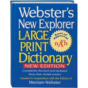 Webster's New Explorer Large Print Dictionary (Hardcover)