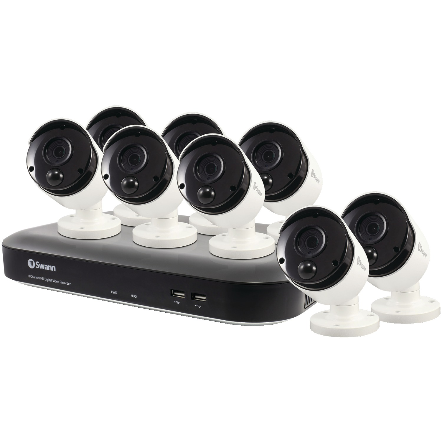 Swann SWDVK-849808-US 8-Channel 4980 Series 5.0-Megapixel DVR With 2TB HD & 8 PIR Bullet Cameras