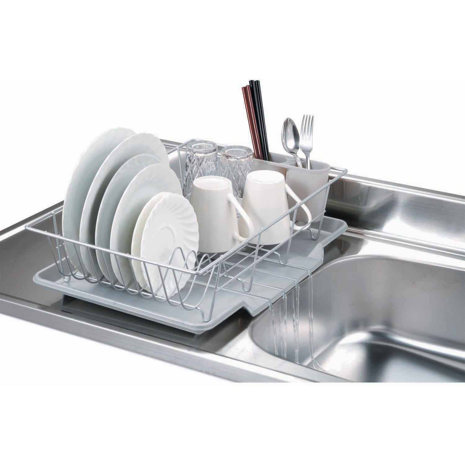 Home Basics 3-Piece Dish Drainer