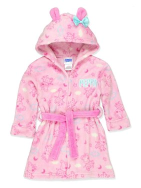 Peppa Pig Toddler Girls Plush Fleece Bathrobe Robe, Pink, Size: 3T
