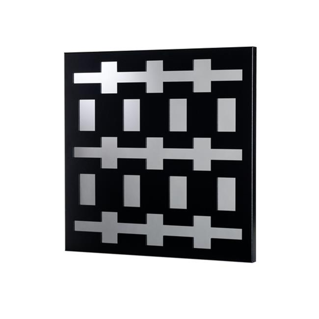 Metal Decor WA-1012-M-SIL Rectangles Platinum Silver Metal Mirror & Wall Decor Art