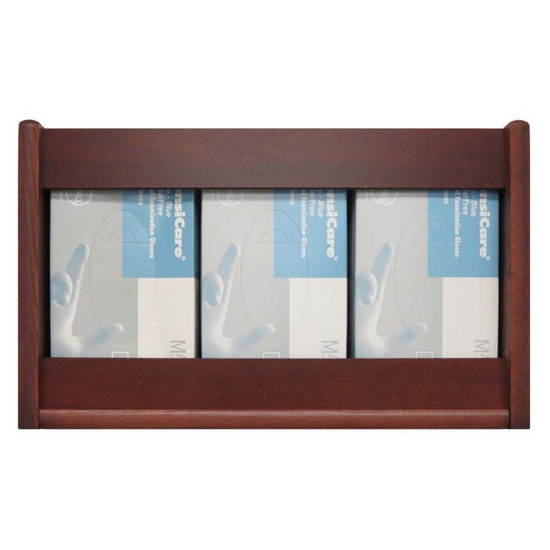 Wooden Mallet 3 Pocket Glove and Tissue Box Holder in Mahogany