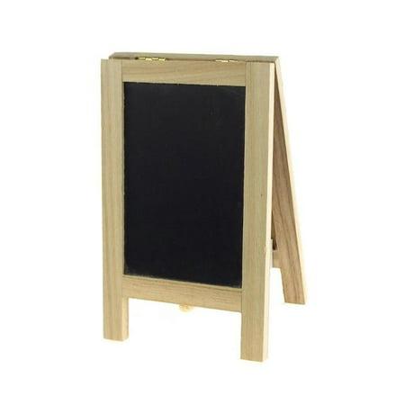 Mini Chalkboard Wood Cork Easel, Rectangle, - Mini Chalkboard Easel