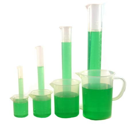 Polypropylene Plastic Measuring Volume Set - 3 Beakers, 4 Graduated Cylinders, 1 (Polypropylene Graduated Cylinder)