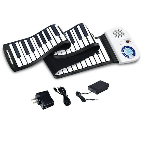 88 Key Electronic Roll Up Piano Keyboard Silicone Rechargeable Bluetooth (Best 88 Key Midi Keyboard)