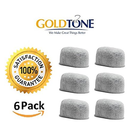 GoldTone (TM) Brand Replacement Charcoal Water Filter Cartridges for Keurig Classic and 2.0 Coffee Maker Machines - 6 Pack (Keurig Coffee Maker Water Filter)