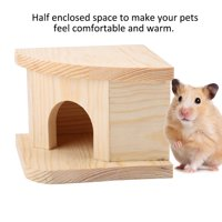 EOTVIA Hamster House,Natural Wooden Hamster Bed Cabin Small Animal Warm House Hamster Nest