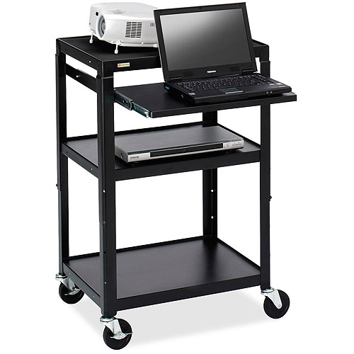 Bretford Adjustable Projector Cart with Notebook Shelf
