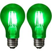 Sleeklighting LED 6Watt A19 Green Light Bulbs Dimmable UL Listed, E26 Base Energy Saving