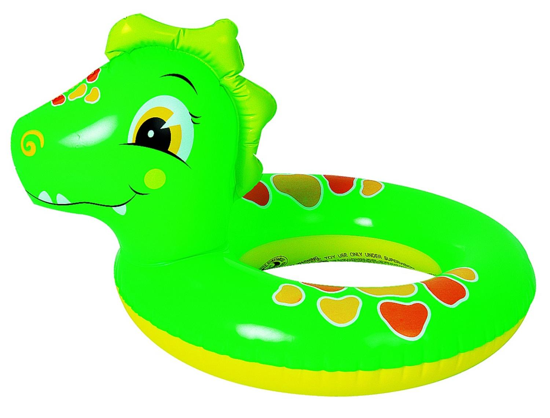 Green And Orange Dinosaur Ren Inflatable Swimming Pool Inner Tube Ring Walmart