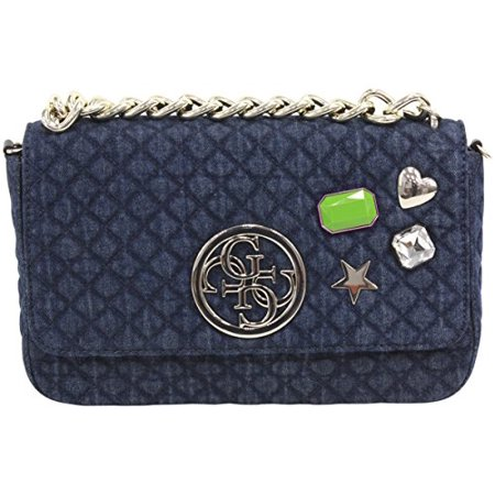 81168db1a94 GUESS - GUESS G Lux Quilted Denim Crossbody Flap Hobo Bag Handbag -  Walmart.com