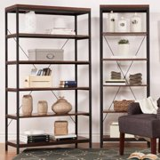 Tribecca Home  Somme Rustic Metal Frame 6-tier Bookslf Media Tower