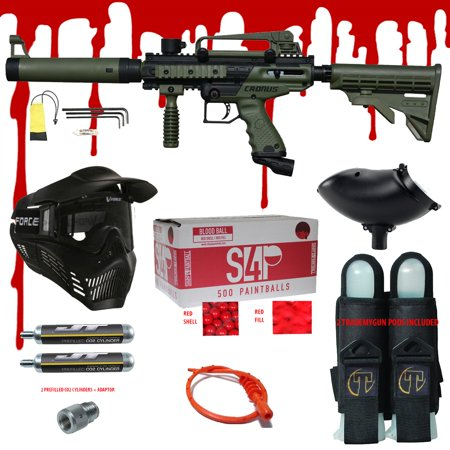 Tippmann Cronus .68 CAL Paintball Gun Kit - Ready Play Blood (Paintball Gun Dust Olive)