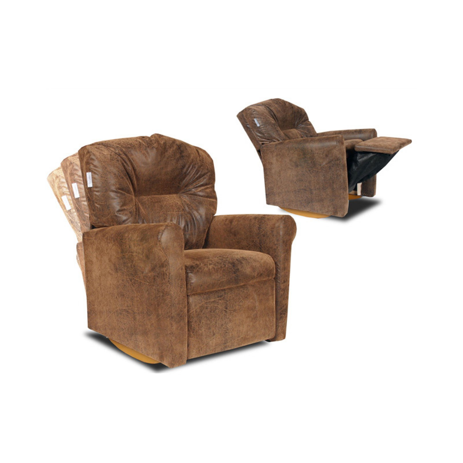 Dozydotes Contemporary Kid Rocker Recliner -  Brown Bomber