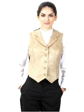 dca1c43953a Product Image Women s Suede Notch Lapel Dress Vest