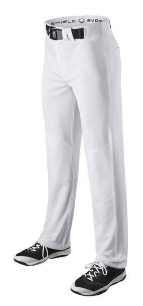 Evoshield Mens General Baseball Pants Hemmed Boot Cut Belt Loop White or Gray