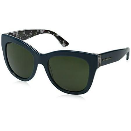 d99f714ae8 Dolce   Gabbana - DOLCE   GABBANA Sunglasses DG 4270 302271 Top Petroleum Print  Rose 55MM - Walmart.com