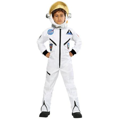 Child White Astronaut Jumpsuit Costume