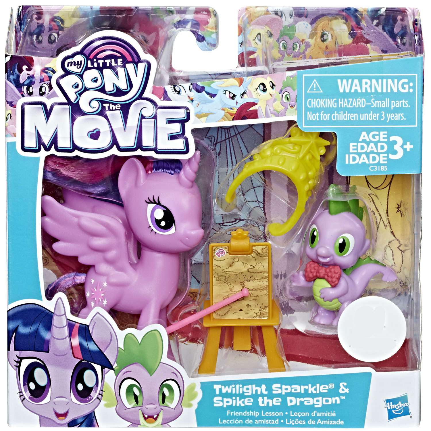 My Little Pony the Movie Twilight Sparkle /& Spike The Dragon Friendship Lesson