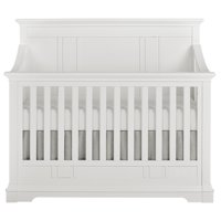 Evolur Parker 5-in-1 Convertible Crib, Winter White