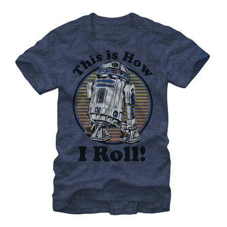 Star Wars Men's R2D2 How I Roll T-Shirt - How Tall Is R2d2