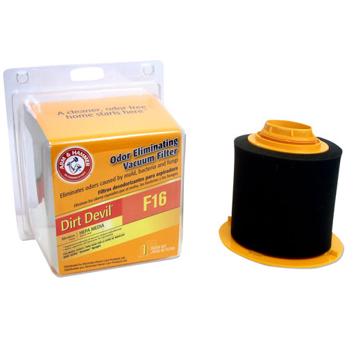 Arm & Hammer Odor Eliminating Vacuum Filters, Dirt Devil F16 ™ with HEPA