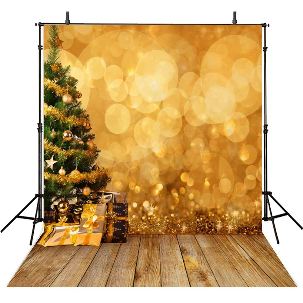 HelloDecor Polyester Fabric 5x7ft Photography Backdrops Christmas Theme Photo Backgrounds Bokeh Photographic For Backgrounds Photo Backdrops