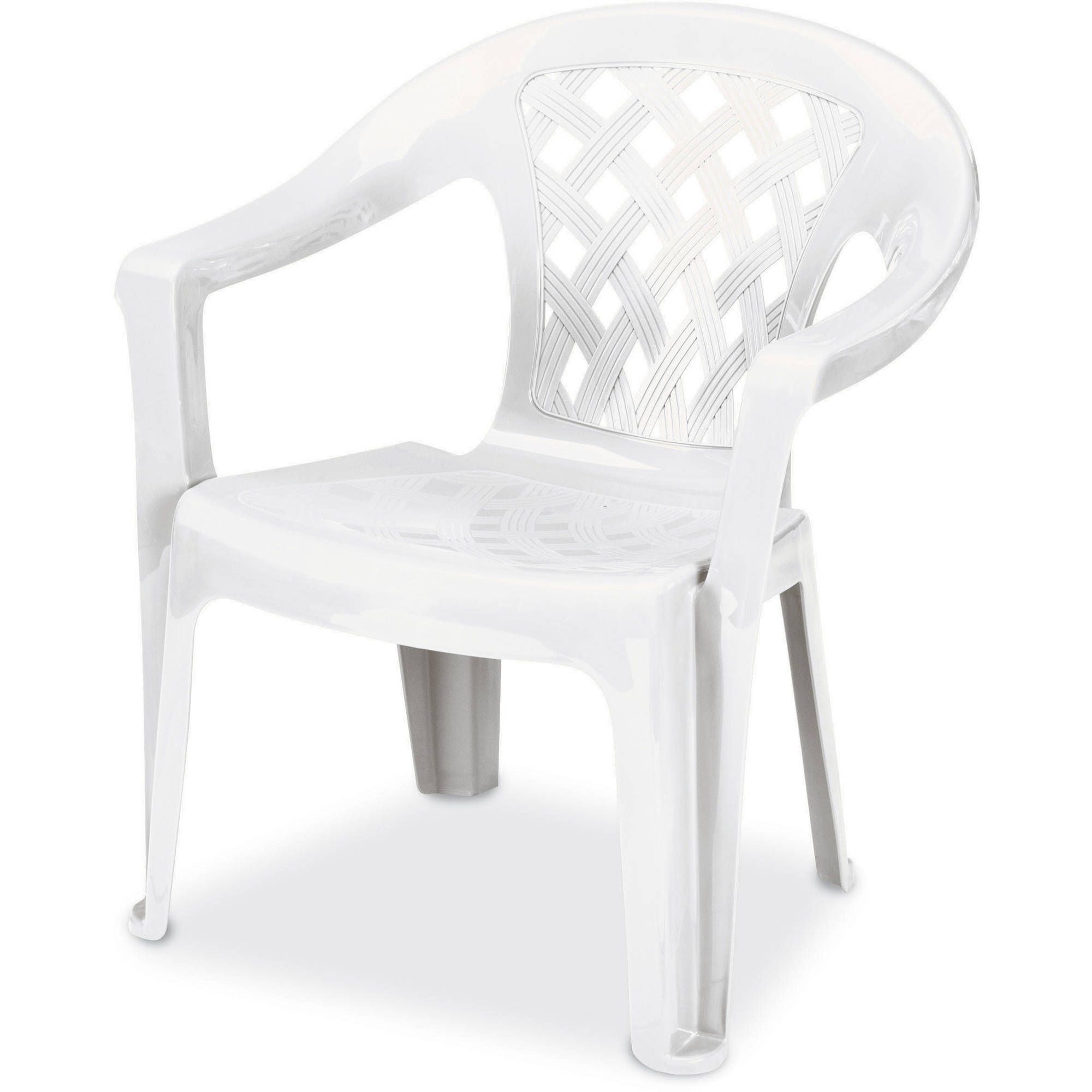 Elegant US Leisure Resin Big And Tall Lowback Chair, White Part 21